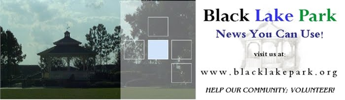 Black Lake Park ~ News You Can Use!