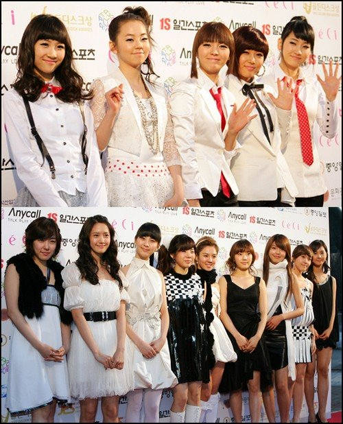 would either name Wonder Girls or Girl's Generation (also known as SNSD,