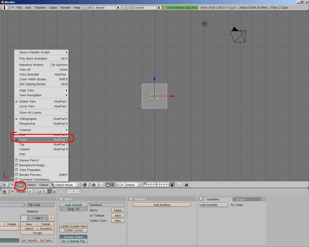 Simple blender tutorials beginners modelling tutorial part 1 next we need to split the views into two this will give us the ability to see two sides of the model at once at the top of the 3d window baditri Image collections