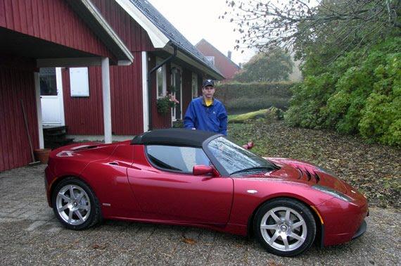 Elbil Sveriges Blogg En Tesla Har Anlant