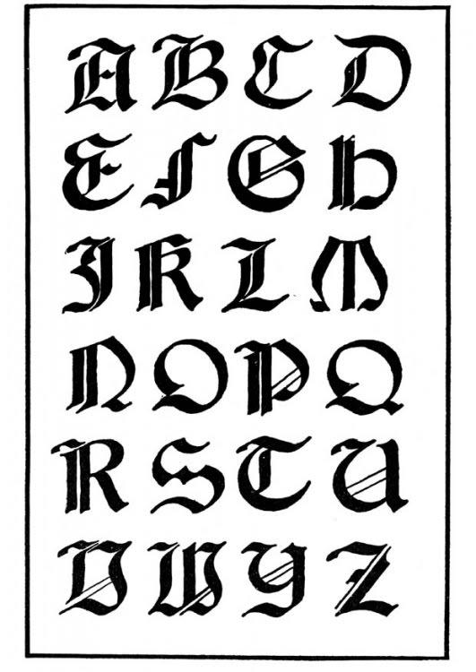 Tipos de letras del abecedario para tatuajes - Imagui