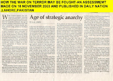 TWO STRATEGIC ASSESSMENTS ABOUT HOW THE WAR ON TERROR MAY BE FOUGHT -CLICK ON PICTURE TO READ