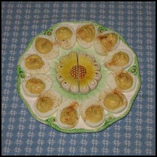 Deviled Eggs on Daisy Plate