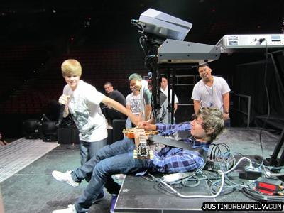 Justin Bieber preparing concert