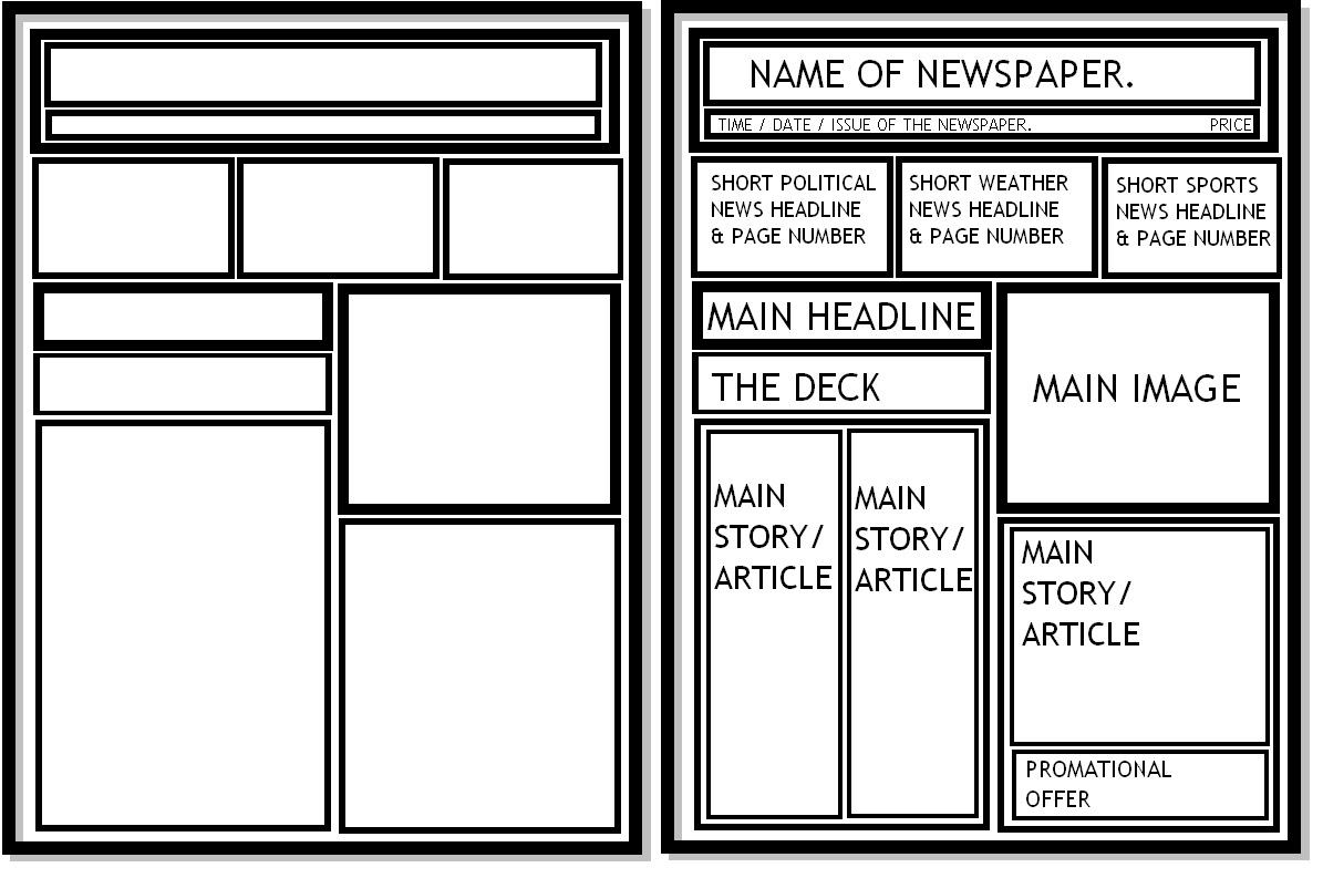 Digital Graphics.: Newspaper