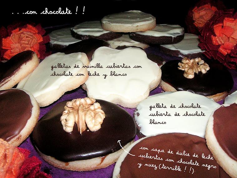 galletas con chocolate surtidas