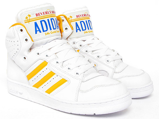 Adidas Jeremy Scott License Plate Gold shoes