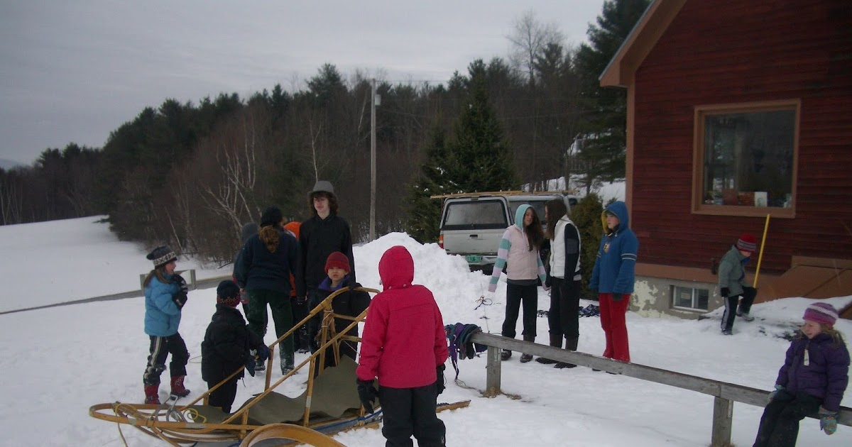 Red Cedar School ~ Red cedar school vermont dog sled visits
