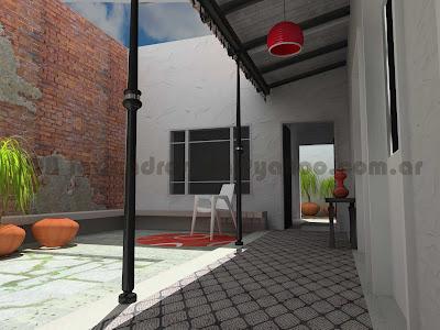 Arquitec maquetas remodelaci n 3d casa chorizo en baires for Cocinas viejas reformadas