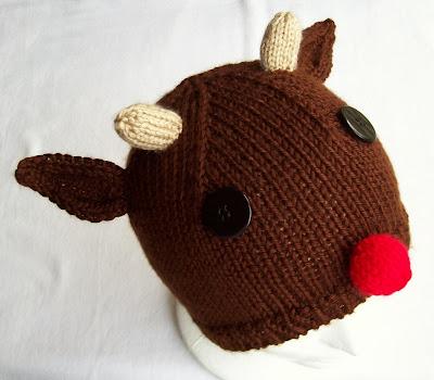 Carissa Knits  Rudolph Hat 2b39c29f7f3