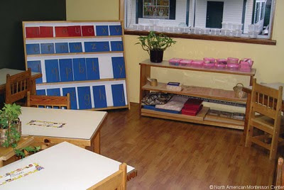 NAMC montessori prepared environment peaceful classroom shelves