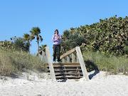 We hielden halt in Cocoa Beach om te genieten van een wandeling op het .