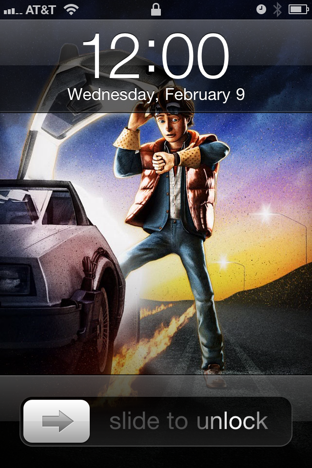 shedwa back to the future iphone wallpaper