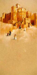 citadelle du dιsert (pastel)Claude TEXIER pastelliste