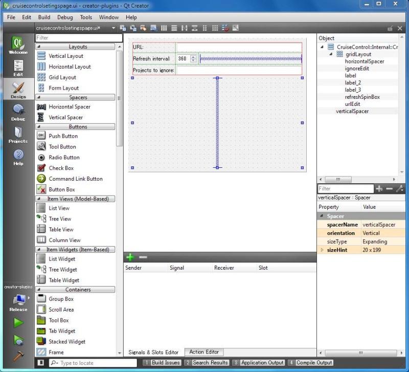 Python qt designer custom slots