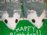 Cake with Cute Baby Opossum
