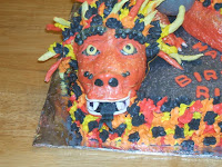 Chinese Fire Dragon Cake