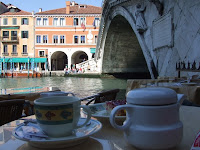 Tea and cake at the Rialto, Venice