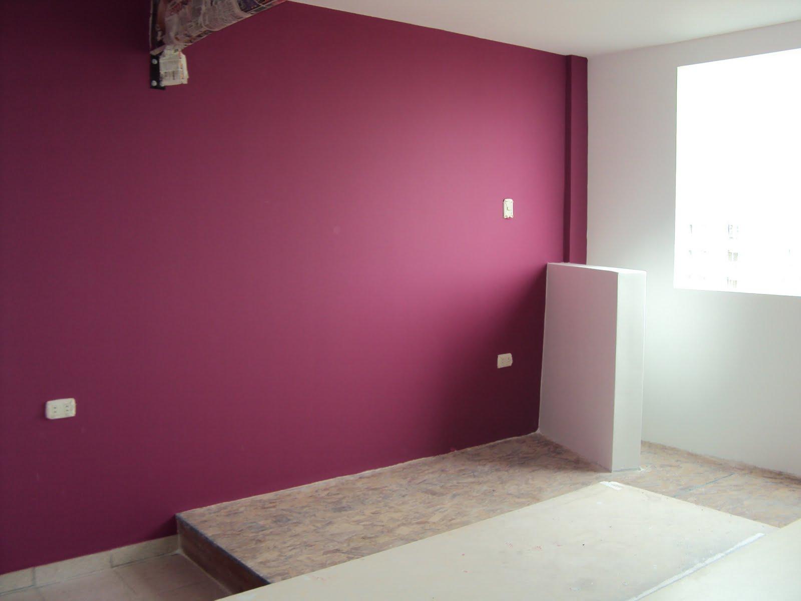 Pintandoelperu pared empastada con pasta sinolit - Color arena para paredes ...