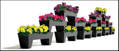floors un novedoso modelo de jardineras de acero galvanizado para utilizar en exteriores e interiores