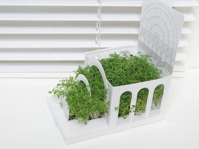 Postal con jardin