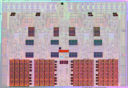 Intel Nehalem chip with SRAM highlited