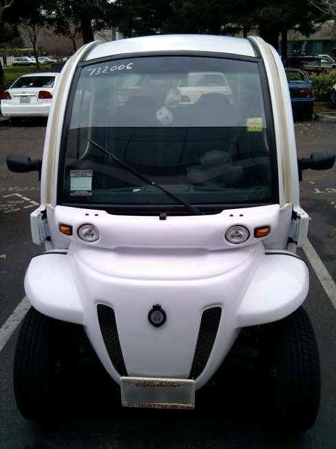 Electric vehicle with fuzzy dice
