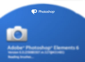 Adobe Photoshop splash screen icon looks like the Twitter location toggle