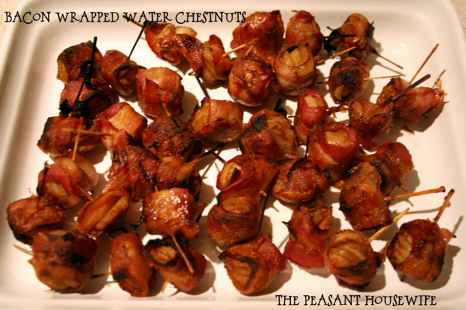 how to make water chestnuts wrapped in bacon
