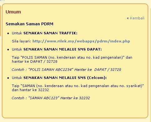 Cek Saman