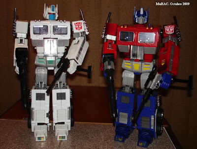 Masterpiece Ultra Magnus y 20th Anniversary Optimus Prime