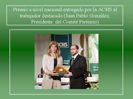 Premio al Trabajador destacado : JUan Pablo Gonzalez