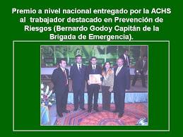 Premio al TRabajador Destacado :Bernardo Godoy