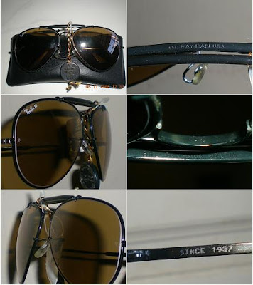All About Rayban Made in USA  B L Ray Ban USA THE GENERAL BLACK bdbeca398b
