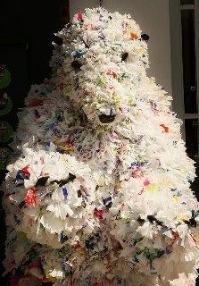 Trash Art polar bear