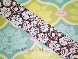 Brown Damask in 7/8 & 1.5