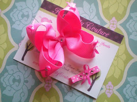 Breast Cancer bow N Clippie