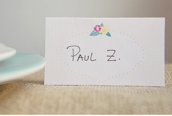 Ruffled Place Card Template