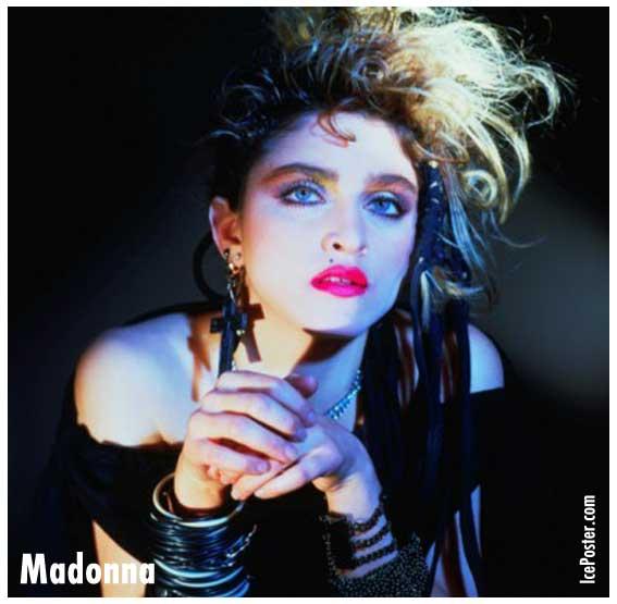 Allison Wiltshire evoking '80s Madonna.