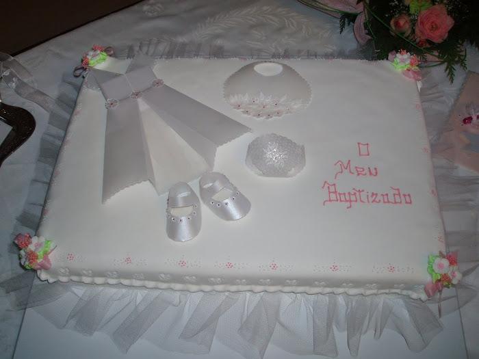 bolo de batizado da Leonor