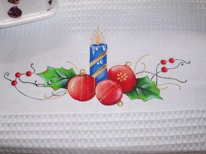 paninho de cozinha de natal