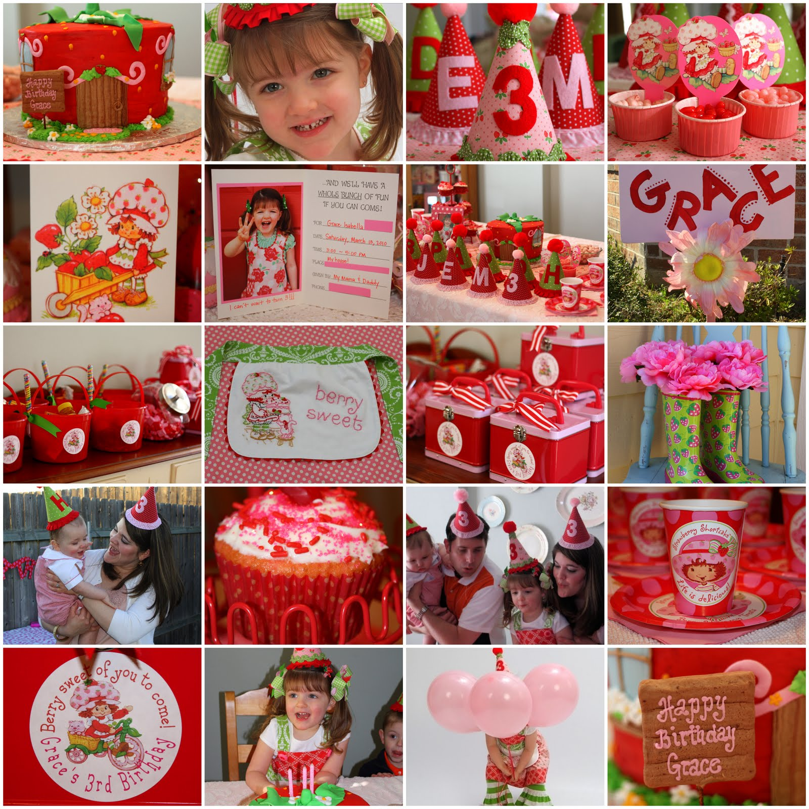 little pumpkin grace: Strawberry Shortcake Birthday Party!!!