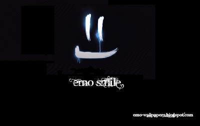 Emo Smile Wallpaper