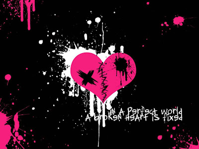 Broken Emo Heart Wallpaper