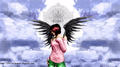 Emo Angel Girl Wallpaper