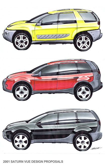 2001 saturn VUE production concepts