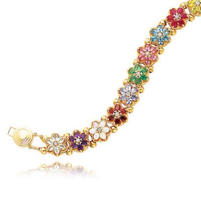 Gemstone Slide Bracelet