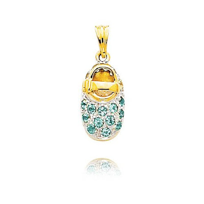 December Blue Topaz Baby Shoe Charm