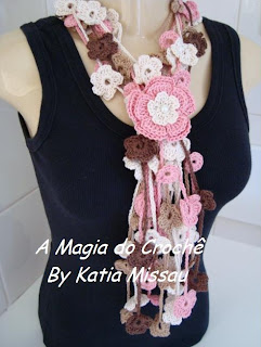 cascata+linha+flor+rosa 2012 Yeni Bayan Atkı ve Boyunluk Modelleri