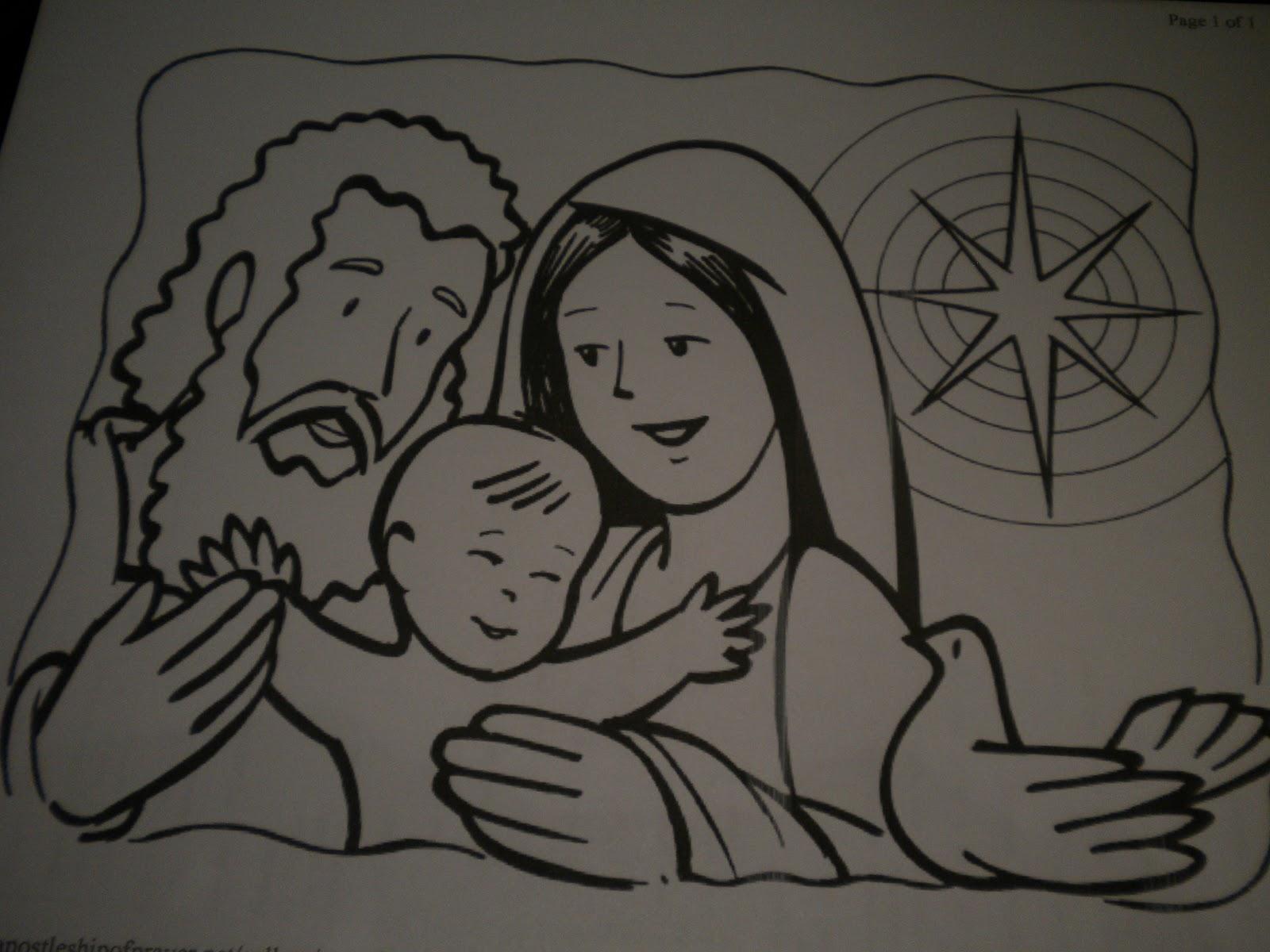 Familia Católica: Páginas para colorear de la Sagrada Familia